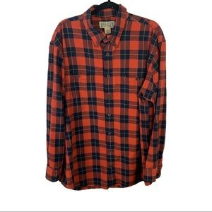 Duluth Trading Co Plaid 100% Cotton Flannel L Tall
